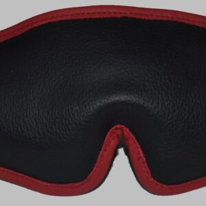 Ultimate padded blindfold with red leather edging