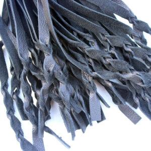 Black leather twist flogger