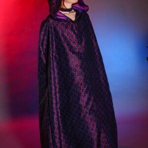 Purple taffeta and lace cloak