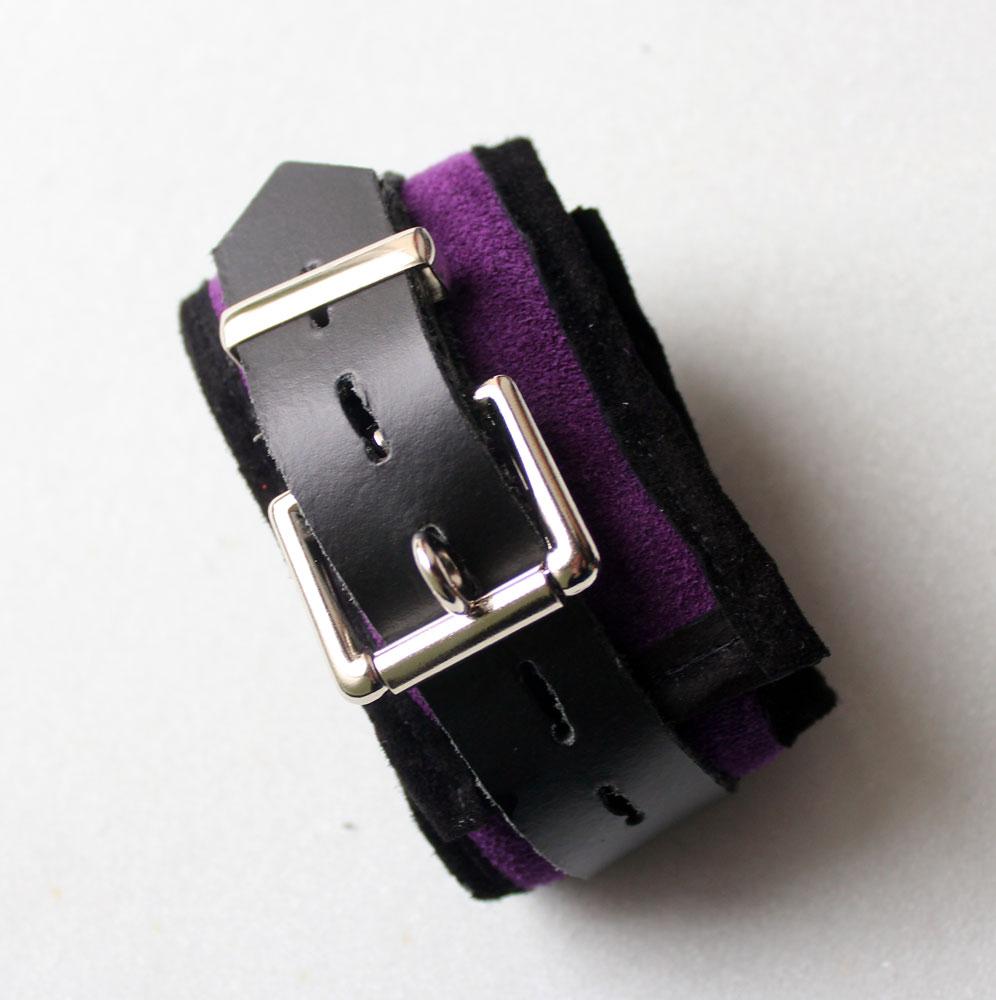 Purple upper arm cuffs