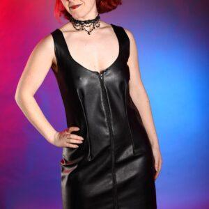 Leatherette Dress
