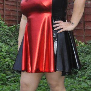 PVC Skater Dress – Large – Red
