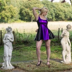 PVC Skater Dress – purple