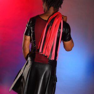 Leatherette utility kilt