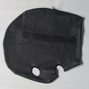 XL leather hood with loops to add blindfold/gag