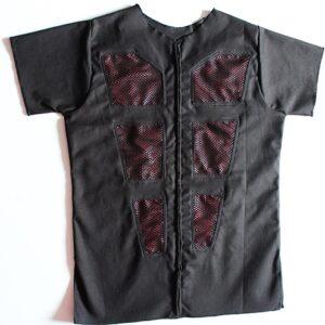 Red mesh V jacket