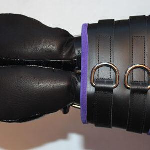 Wide cuff arm binder with bondage mitts
