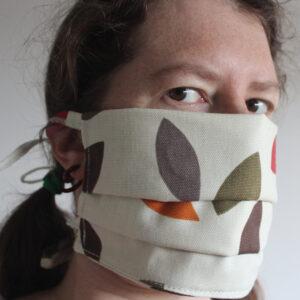Autumn leaves cotton face mask