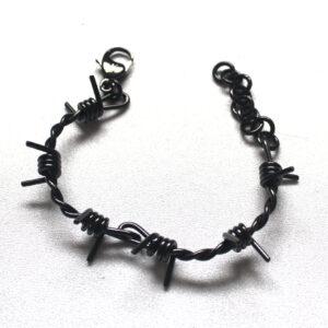 Black barbwire bracelet