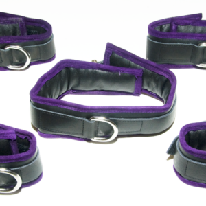 Luxury wrist, ankle and collar set