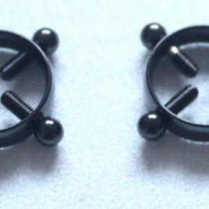 Black adjustable circle nipple clamps