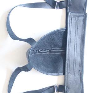 Luxury leather jock strap with black trim