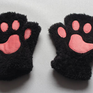 Black paw gloves