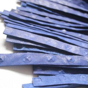Large blue leather flogger
