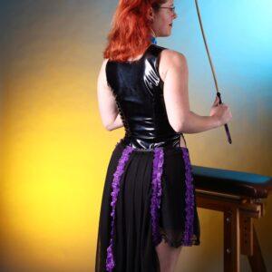 Purple trim burlesque skirt