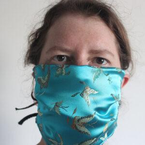 Butterfly satin face mask