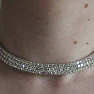 Diamante submissive collar