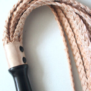Limited edition golden braided leather flogger