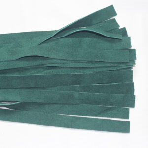 Green suede flogger with oak handle