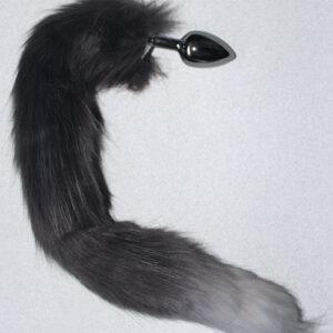 Grey tail anal plug