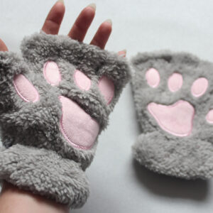 Grey paw gloves