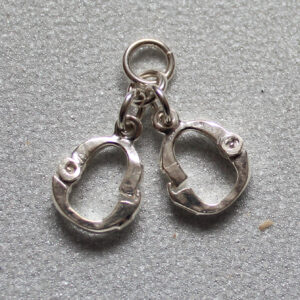 Silver handcuff pendant