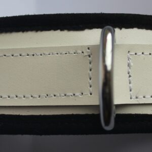 Limited edition white leather padded collar