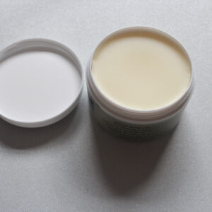 Leather balm for treating leather clothing