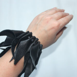 Leather boa bracelet