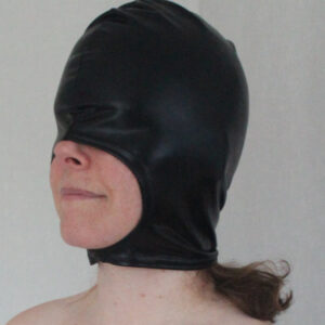 Stretchy PVC hood with open mouth