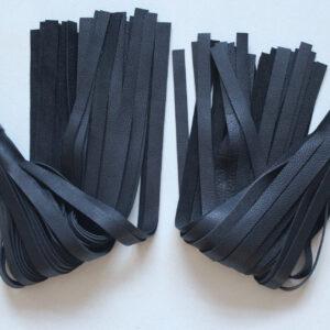 Black handle poi ball flogger – pair