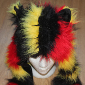 Pet play scarf and hat