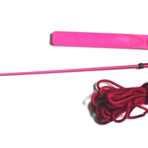 Pink crop bondage set