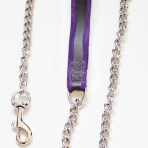 Purple suede edged leash