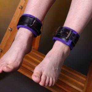 Ankle restraints – purple suede edging