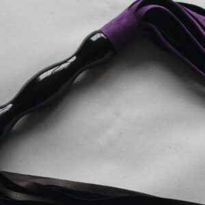Double ended purple suede and black leather