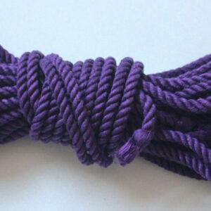 Dyed hemp rope 8m 4 bundles, choose your colour
