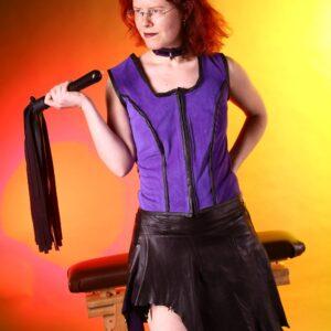 Leather fantasy skirt