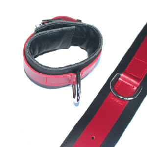 Black and red padded cuffs