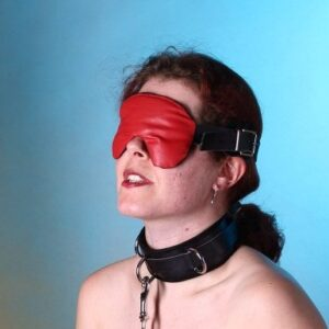 Leather faced blindfold