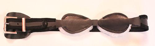 Sheepskin blindfold