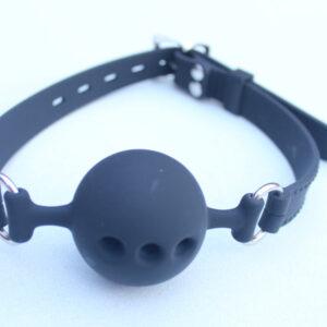 Silicone lockable ball gag