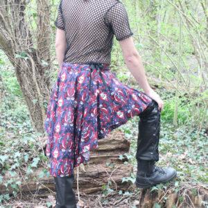 Skull burlesque skirt