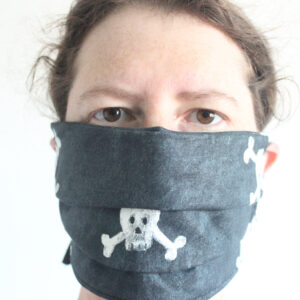 Skull cotton face mask