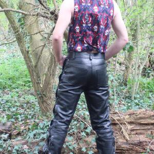 Leatherette waistcoat