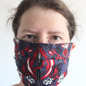 Skulls and daggers cotton face mask