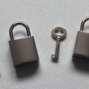 Pair of square padlocks