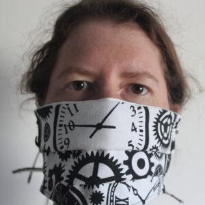 Steampunk cotton face mask
