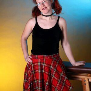 Burlesque style tartan skirt