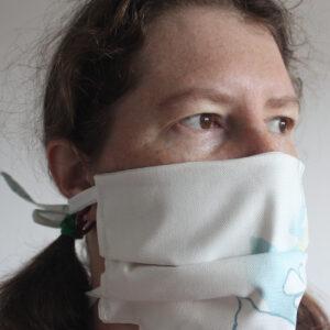 White cotton face mask